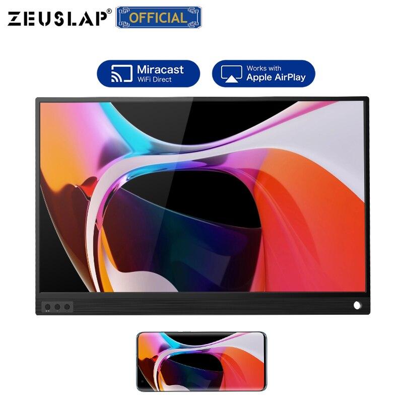 ZEUSLAP 15,6 дюймовый беспроводной USB C HDMI совместимый FHD IPS экран портативный монитор для iphone XiaoMi 8 переключатель ps5 huawei mate40 rs|Мониторы|   | АлиЭкспресс