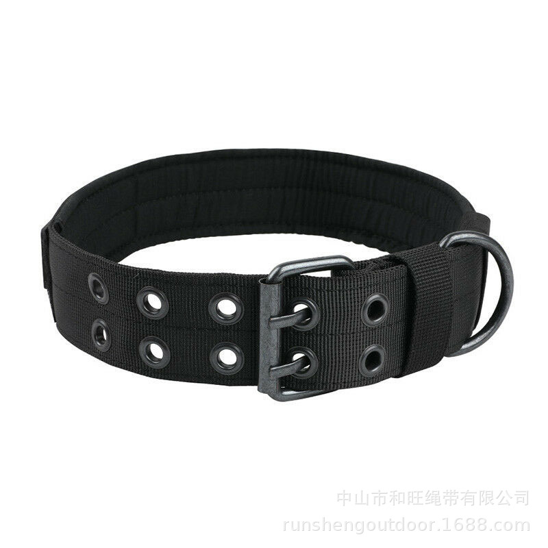 Pet Supplies Hot Selling Summer Shuang Pai Zhen Buckle Pet Collar Thick Large Dog Collar