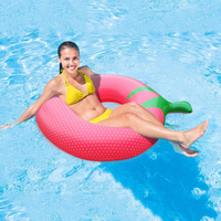 140x100cm Inflatable Strawberry Swimming Ring Adult Female Swimming Pool Float Swimming Toy Summer pvc Lifebuoy