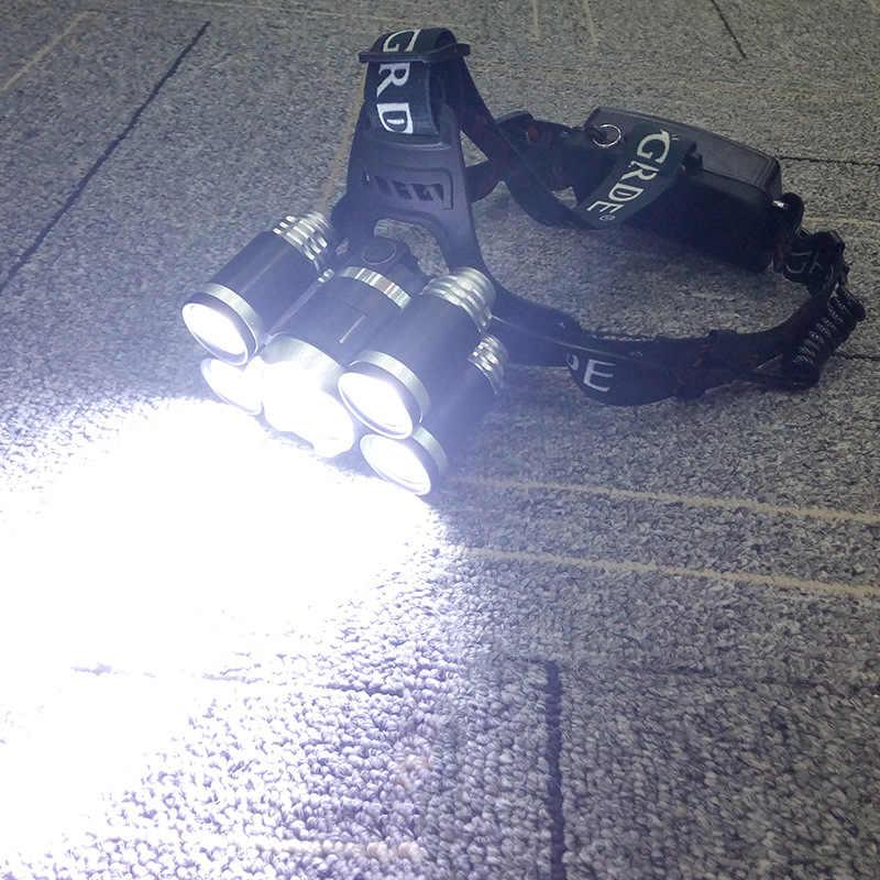Litwod 75 8000LM LED פנס 5 שבבי 4 מצב XML T6 ראש מנורת USB נטענת פנס עמיד למים נייד אור עבור קמפינג