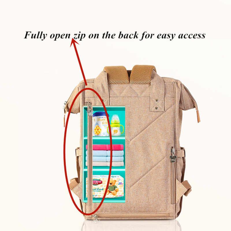 2019 Disney sac à couches sac à dos USB bouteille isolation sacs Minnie Mickey grande capacité voyage Oxford alimentation bébé momie sac à main
