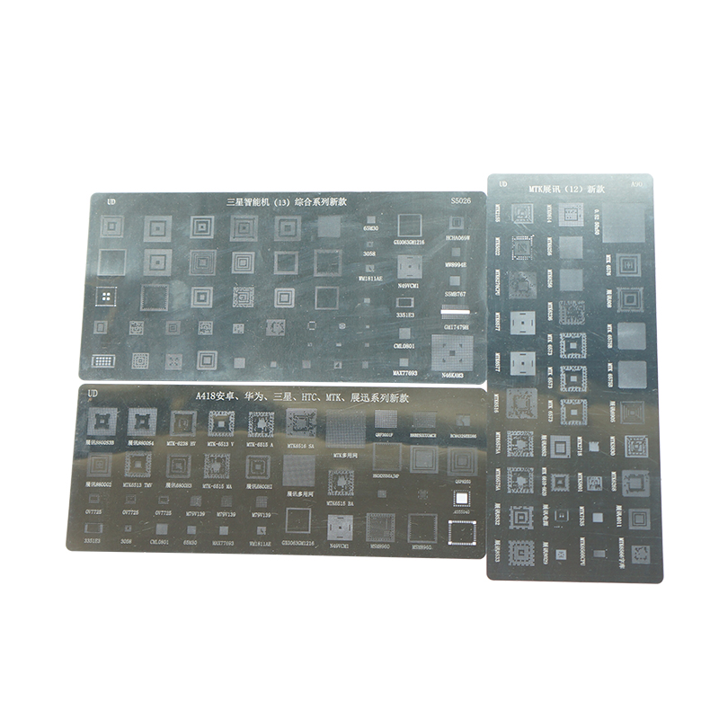 3pcs Universal BGA Stencils For Samsung HTC Huawei Android MTK Directly Heated BGA Reballing Stencils Kit
