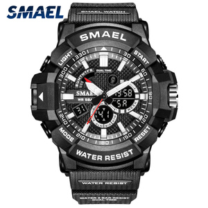 SMAEL Men Military Watch 50m Waterproof Wristwatch LED Quartz Clock Sport Watch Male relogios masculino Sport Watch Men S Shock