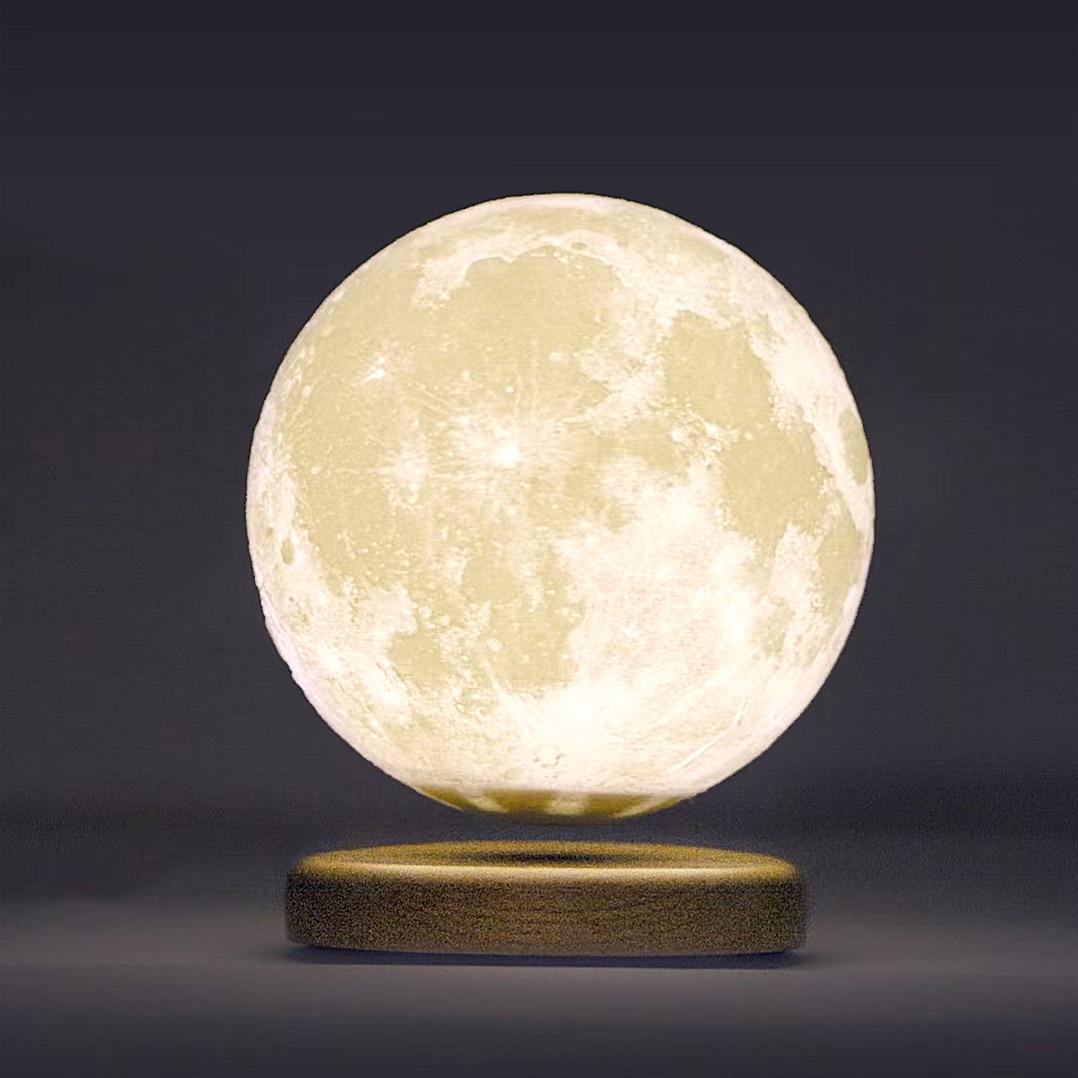 Modern Art 3D Printing Moon Floating Lamp Planet Desk Lamp Study Bedside Lamp