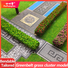 2PCS Shrub Strips Green Sand Table Miniature Model Simulation DIY Materials Grass Fence For Outdoor Indoor Building Diorama