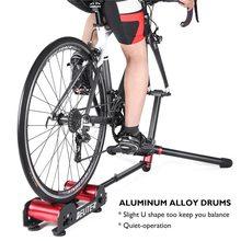 Rodillo de entrenamiento para bicicleta, rodillo estacionario de resistencia para entrenamiento en bicicleta de montaña o carretera, plegable y portátil