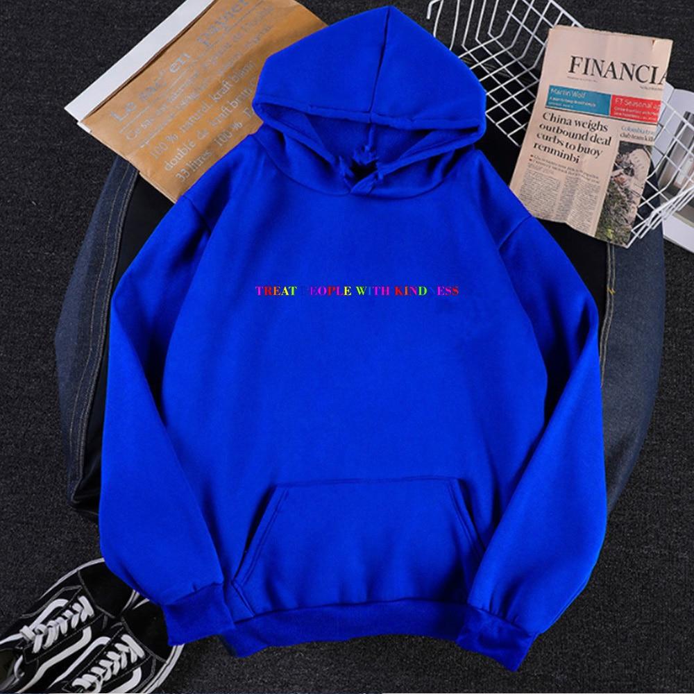 Treat People with Kindness Sweatshirt Streetwear Fashion Tops Letter Pullovers Women 2020 Harry Styles Hoodies Aesthetic 9