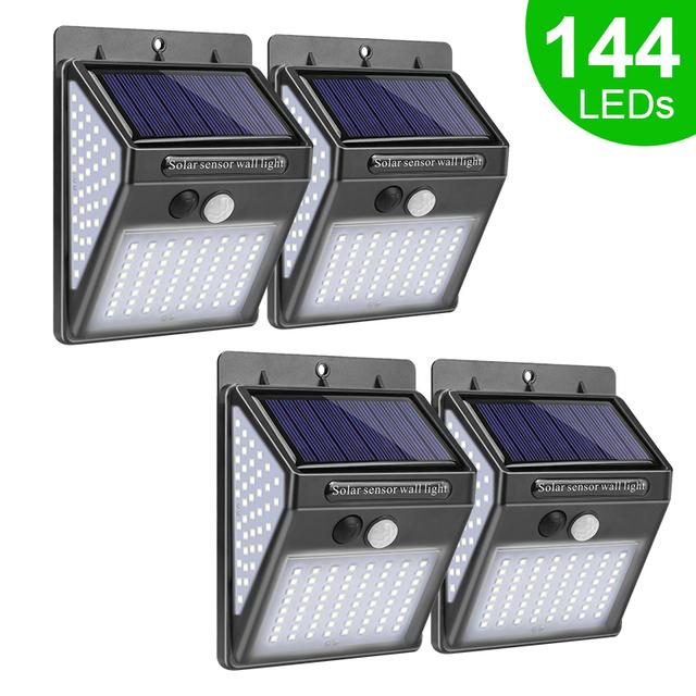 Solar LED Light Solar Lamp with PIR Motion Sensor Solar Powered Waterproof Wall Light
