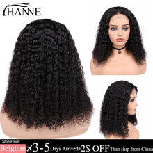 Lace-Wig Closure Wigs Human-Hair-Wigs HANNE Remy Brazilian Curly with 150%Density Forblack