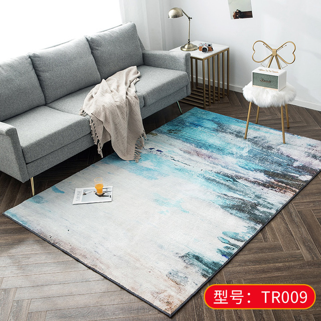 Nordic Style Area Carpet Abstract Striped Living Room Carpet Soft Home Decoration Bedroom Sofa Cushion Carpet Mattress Size : 120160cm
