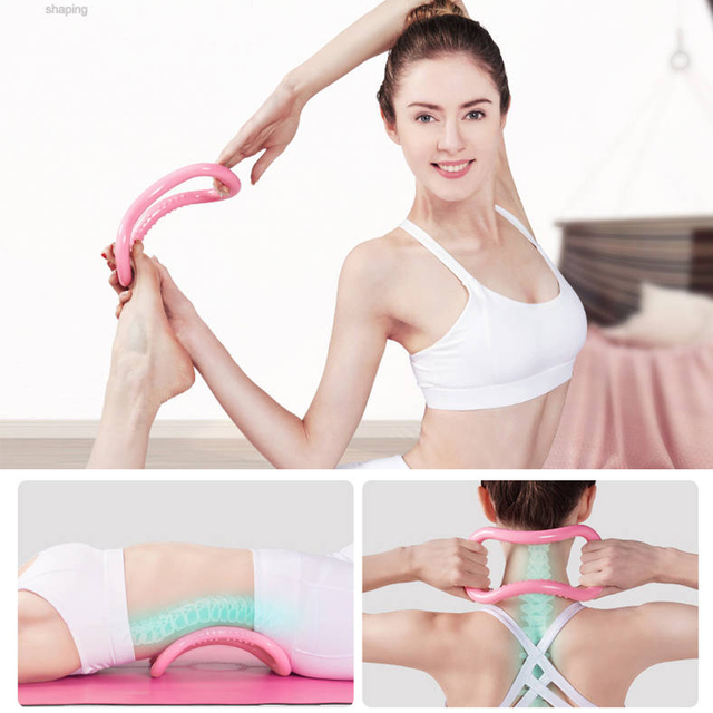 6 Pcs Set Magic Ring for Sports Home Fitness Yoga Circle Leg Arm Muscle Trainer Pilates Circle Exercise Workout Gym Bodybuilding 6