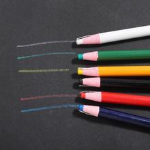 6 sztuk zestaw Cut-free marker do tkanin pióro do szycia krawieckie kredki kredki do szycia kreda do szycia krawieckie akcesoria do szycia tanie tanio Krawca kreda Haft Z tworzywa sztucznego Red Blue Green White etc 17cm about 0 45cm Chalk Sewing Chalk