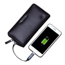 2019 Men Wallet Genuine Leather Bluetooth Anti-lost Brand Rfid Clutch Male Organizer Cell Phone Bag Usb Charge Long Coin Purse