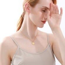 A z ожерелье с подвеской буквенным принтом из нержавеющей стали