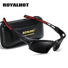 RoyalHot New Luxury Vintage Sports Sunglasses Black Eyewear Brand Designer