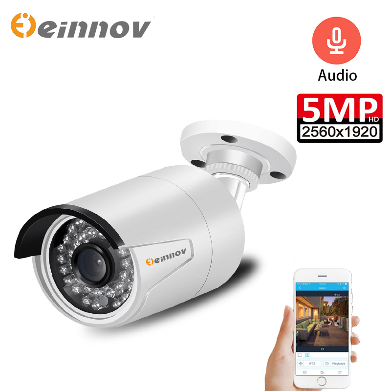 Einnov <font><b>Poe</b></font> Video Surveillance Security <font><b>Camera</b></font> For Home CCTV <font><b>Outdoor</b></font> <font><b>IP</b></font> Camara 5MP Onvif Audio <font><b>Set</b></font> HD Night Vision Danale H.265 image