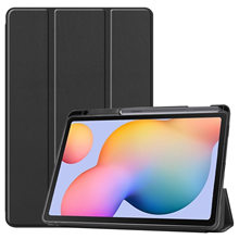 Suitable for Samsung Tab S6 Lite P610 tablet protective sleeve P615 TPU soft shell with pen slot protective leather case