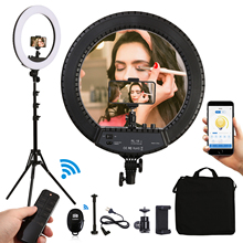 18inch 55w LED Ring Light Camera Phone Photography Ring Lamp With Tripods Stand APP Control For shooting makeup video Portrait