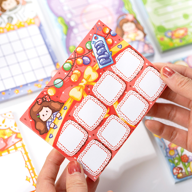 1set/lot Memo Pads Sticky Notes Ago Hide And Seek Series Paper Diary Scrapbooking Stickers Office School Stationery Notepad