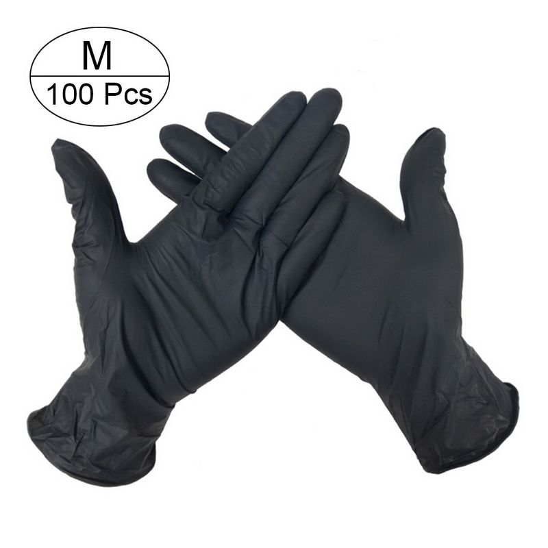 100 PCS Disposable Nitrile Gloves and Multi Purpose Latex Gloves for Virus and Flu Protection 25