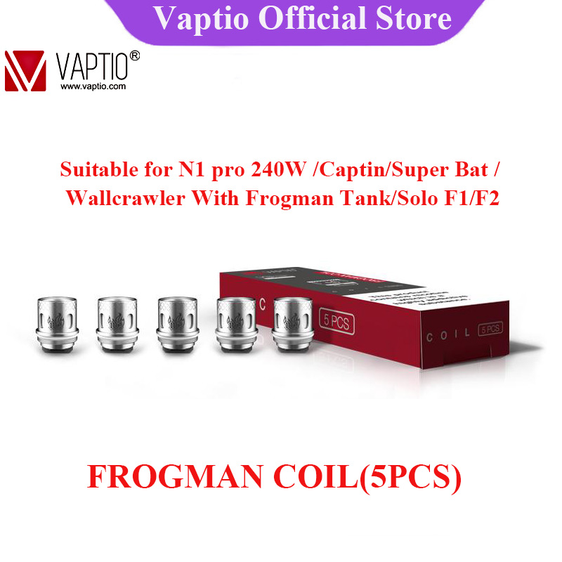 Vaptio Electronic Cigarette Frogman Atomizer Coils Kanthal 0.15ohm 0.2ohm 0.4ohm Evaporator Coil Head For Frogman Tank
