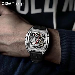 Image 5 - Original CIGA Design Z Series mens smart watch clock Automatic Mechanical Watch Self wind Wrist Watches smartwatch
