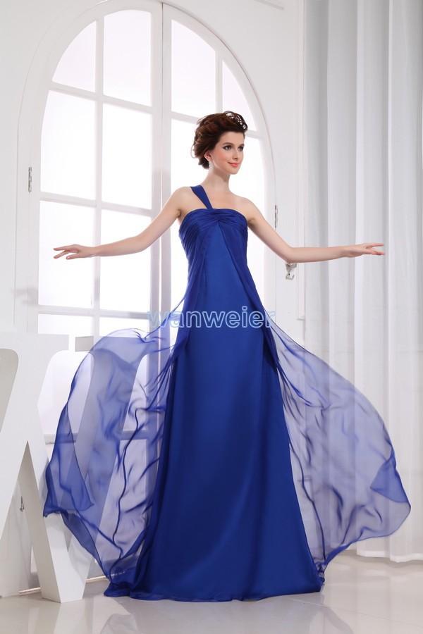 Free Shipping 2014 Vestidos De Festa Formal Gown New Design Long Bandage Brides Maid Custom Size/color Blue Bridesmaid Dresses