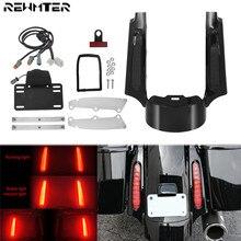 Extension de garde boue arrière pour moto, avec LED lumières pour Harley Touring 09 13 Road slide Ultra FLHX Road King Tri slide