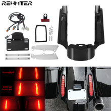 Motorcycle Rear Fender Extention Fascia w/ LED Lights For Harley Touring 09 13 Road Glide Ultra FLHX Road King Tri Glide