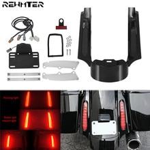 Xe máy Phía Sau Fender Extention Fascia W/Đèn LED Cho Harley Lưu Diễn 09 13 Đường Glide Ultra FLHX Đường vua Trị Glide