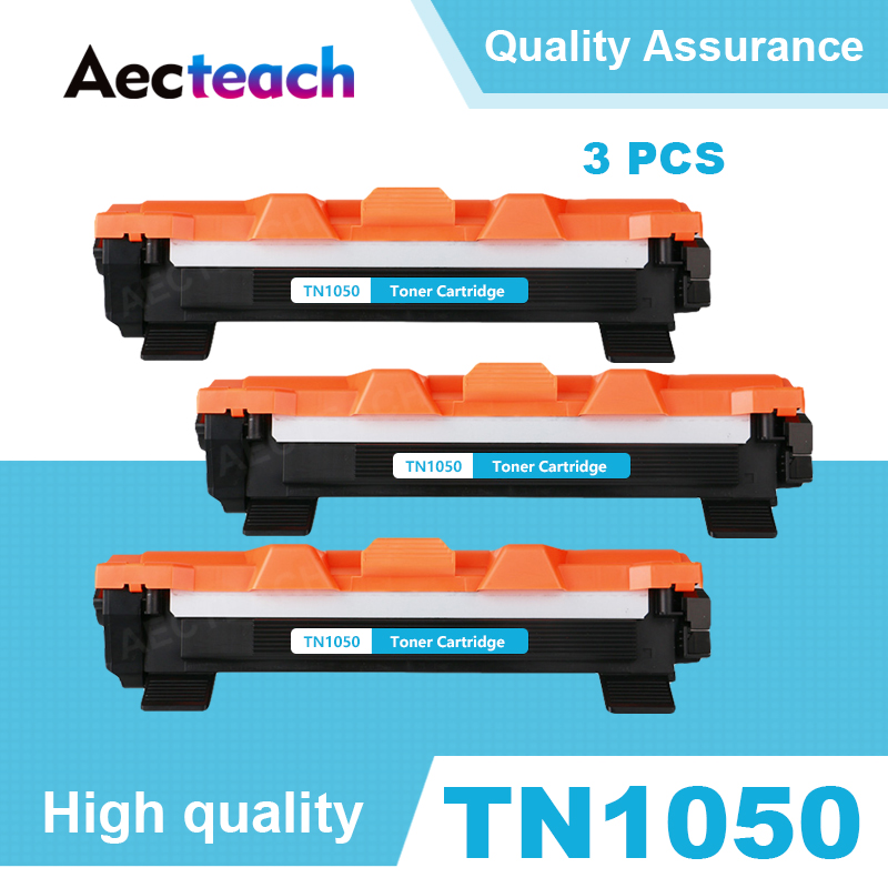 Aecteach 3PCS TN1050 Black <font><b>Toner</b></font> Cartridge Compatible For <font><b>Brother</b></font> <font><b>HL</b></font>-<font><b>1110</b></font> 1110E 1110R 1112 1112E 1202R DCP-1510 1510R Printers image