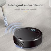 Robot aspirador recargable con luz púrpura para el hogar, aspiradora de 2000mAh, 1600Pa, Barre y friega suelos duros y alfombras