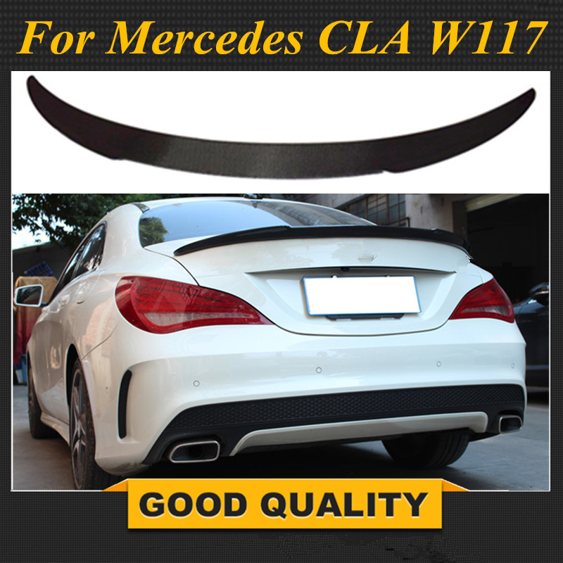 For Mercedes CLA W117 Carbon Rear <font><b>Spoiler</b></font> FD Style CLA Class C117 CLA45 AMG CLA200 <font><b>CLA250</b></font> Carbon Fiber Rear <font><b>Spoiler</b></font> Wing 2013-UP image