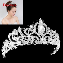 Women Wedding Bridal Tiaras Princess Austrian Crystal Prom Hair Crown Rhinestone Fashion Headband Hair Accessories Headpiece|Hair Jewelry| |  - AliExpress