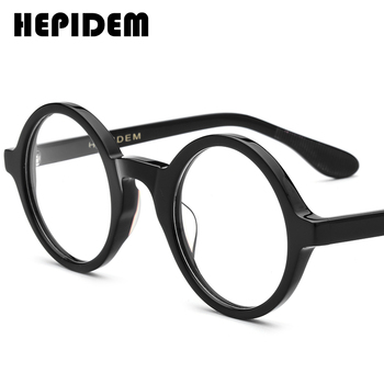 Acetate Optical Glasses Frame Men Full Retro Vintage Round Circle Prescription Eyeglasses Nerd Women Spectacles Myopia Eyewear acetate glasses frame men square prescription eyeglasses new women male nerd myopia optical clear spectacles eyewear fonex