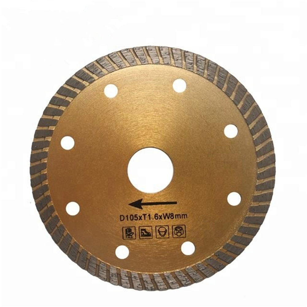 DB12 Hot Pressed Sintered Diamond Saw Blades Continuous Rim Turbo Diamond Cutting Disc For Concrete And Stone 10PCS