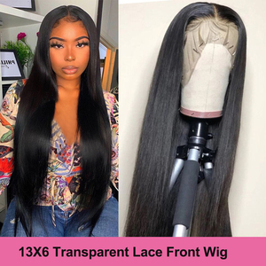 Virgo HD Lace Wig Lace Front Human Hair Wigs For Women Peruvian 360 13X4 13X6 Transparent Lace Front Wig 30 inch 4X4 Closure Wig(China)