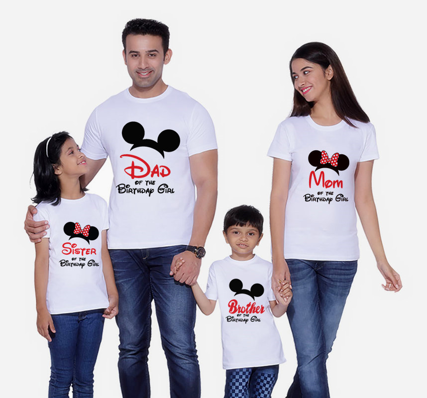 Matching Outfits T-Shirt Mouse-Ear Mommy Minnie Me And Short