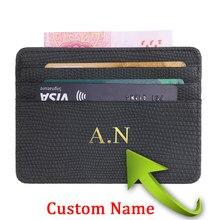 Carteira personalizada lichee padrão gravado bolsa de moedas pequena dos homens das mulheres personalizadas rfid cartão de identificação titular do cartão de proteção