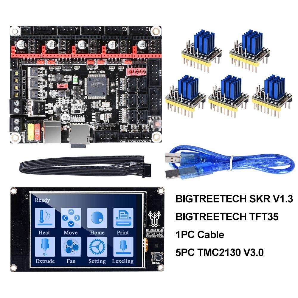 BIGTREETECH SKR V1.3 Smoothieboard 32Bit+TFT35 V2.0 Touch Screen+BLtouch+TMC2130 spi TMC2208 UART 3D Printer Parts vs MKS GEN L