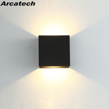6W Dimmable LED Indoor Lighting led Wall Lamp Modern Home Lighting Decoration WALL Sconce Aluminum Wall LIGHTS AC85-265V NR-180 cheap Arcatech Up Down Foyer Bed Room Study Dining room Wedge 90-260V Plastic LED Bulbs led interior wall lamp Industrial Painted
