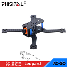 FPV frame drone carbon fiber racer kit for RC drone model racing quadcopter/PHISITAL Leopard PX4 PX5 180/220mm drone frame kit for kingkong q100 rack micro mini fpv carbon fibre rc quadcopter frame kit remote control toys drone part body accessories