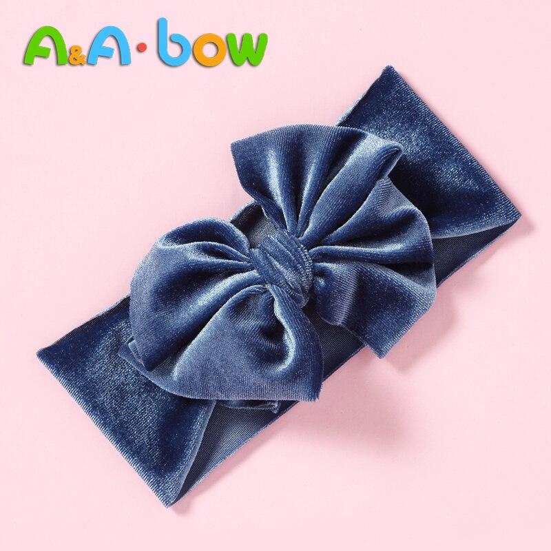 1pc Solid Bow Baby Girl Headbands Soft Nylon Newborn Turban Children Baby Head Wraps Bow Headbands New Baby Turban Drop Shipping