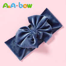 1pc Solid Bow Baby Girl Headbands Soft Nylon Newborn Turban Children Baby Head Wraps Bow Headbands New Baby Turban Drop Shipping