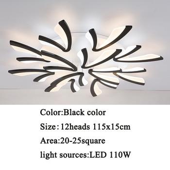 Led ceiling light for living room bedroom White/Black Simple Plafond led ceiling lamp home lighting fixtures AC90-260V 14