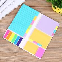 High Quality Office-style Sticky Notes Creative N-time Gift Memo Papelaria Stickers Colorful Planner Pad Stickers Stidents I2C3