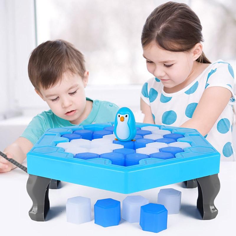 Ativar jogo de mesa mini quebra de gelo salvar pinguim jogo divertido da família pinguim armadilha entretenimento interativo jogo de tabuleiro brinquedos