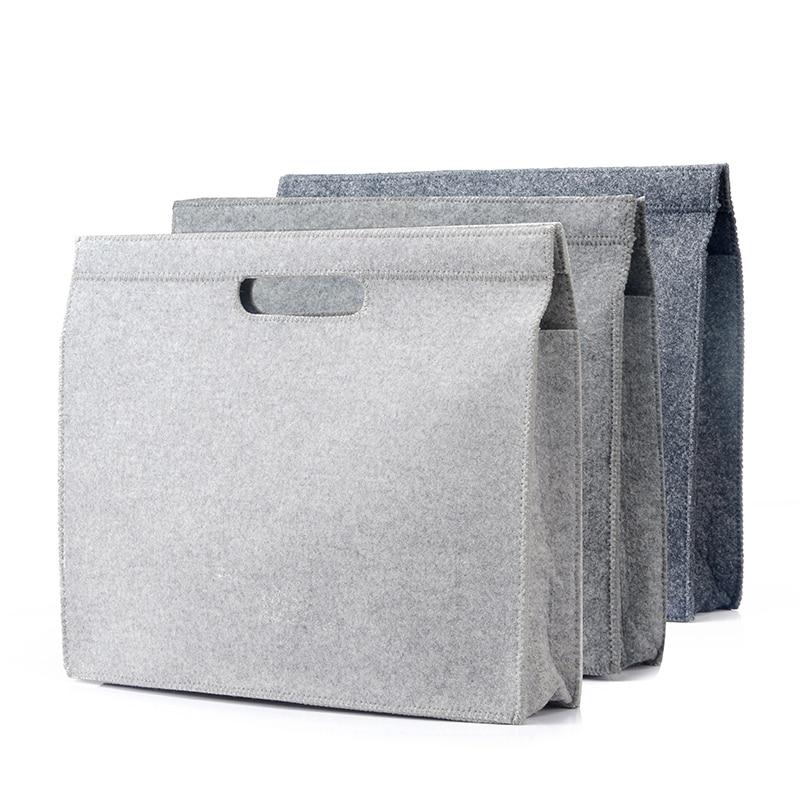 Apple Notebook Computer Bag 12/13/15 Inch Minimalism Felt Laptop Briefcase For Women Business Trip File Package Laptop Bag