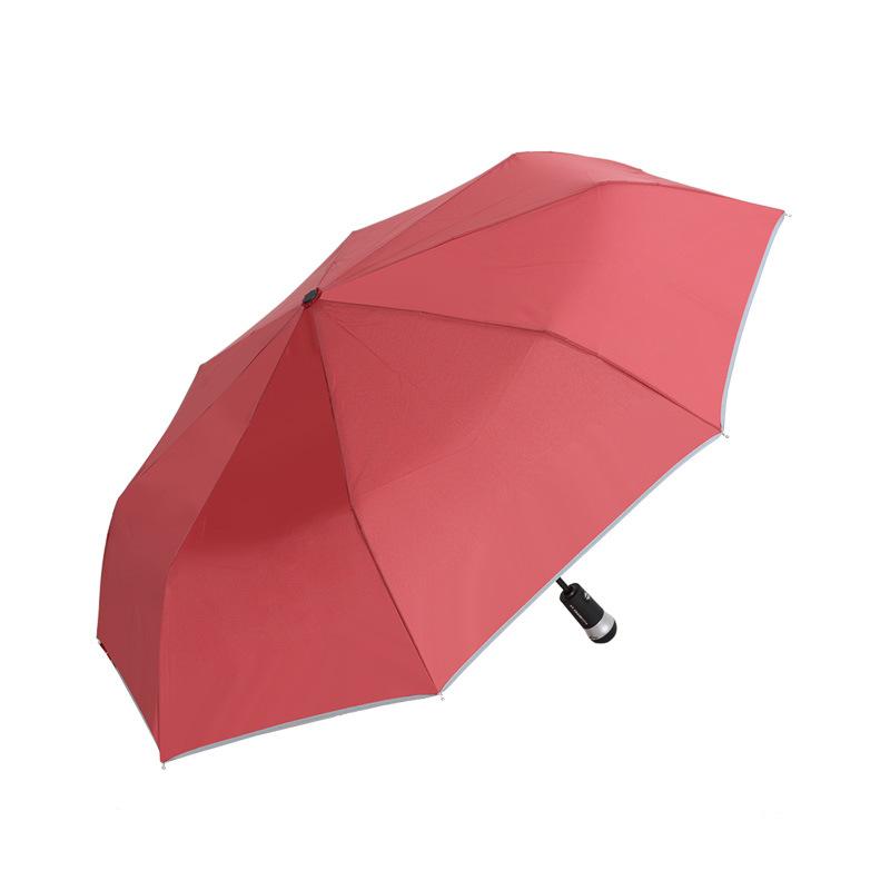 Heng li Direct Selling LED Lamp-decorated Umbrella Cool Fashion cayi san Business Gift Three Fold Umbrella Advertising Umbrella