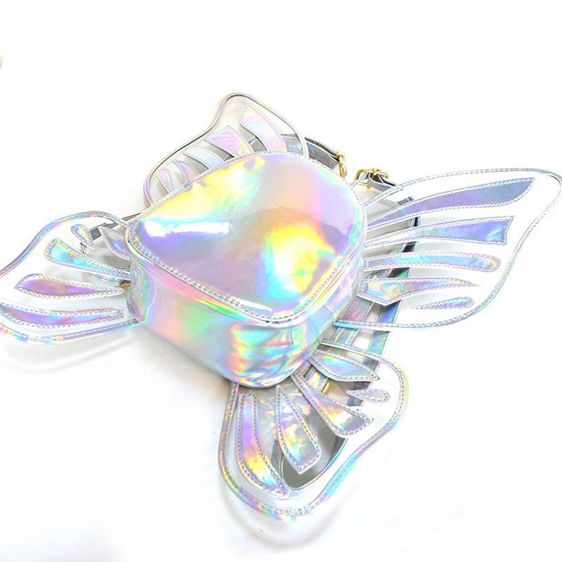 Fashion Butterfly Angel Wings Daypack Bags For Girls Cute Gift Bags Womens Holographic Backpacks School Bags 2019 New